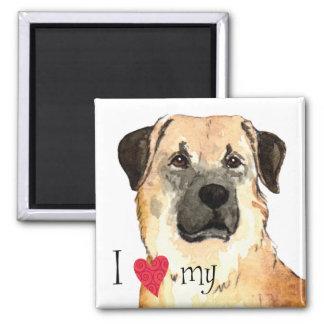 I Love my Anatolian Shepherd 2 Inch Square Magnet