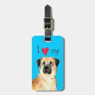 I Love my Anatolian Shepherd Bag Tag