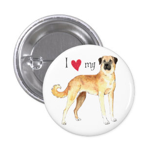 I Love my Anatolian Shepherd Button