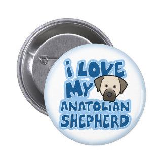 I Love My Anatolian Shepherd Button