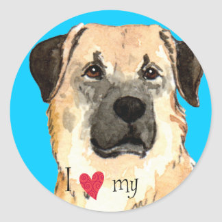 I Love my Anatolian Shepherd Classic Round Sticker