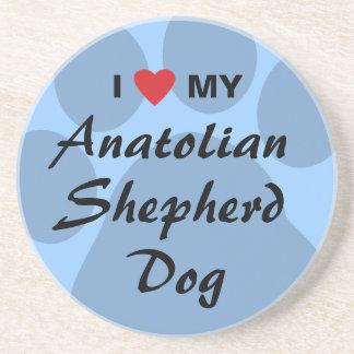 I Love My Anatolian Shepherd Dog Drink Coaster