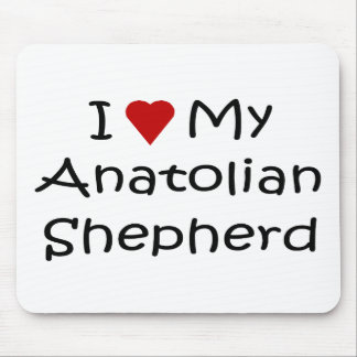 I Love My Anatolian Shepherd Dog Lover Gifts Mouse Pad