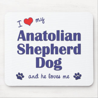 I Love My Anatolian Shepherd Dog (Male Dog) Mouse Pad