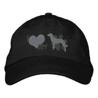 I Love my Anatolian Shepherd Gray Embroidered Hat