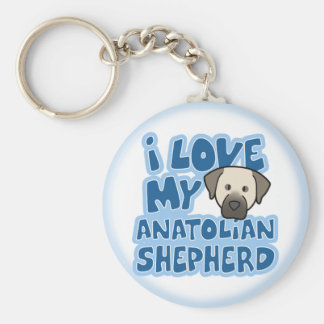 I Love My Anatolian Shepherd Keychain