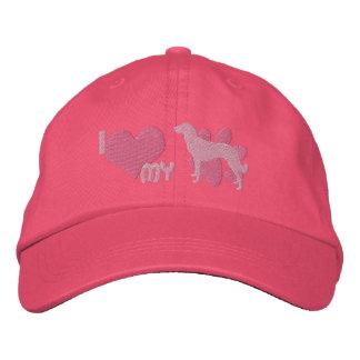 I Love my Anatolian Shepherd Pink Embroidered Hat