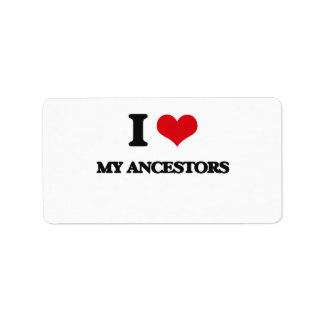 I Love My Ancestors Custom Address Label