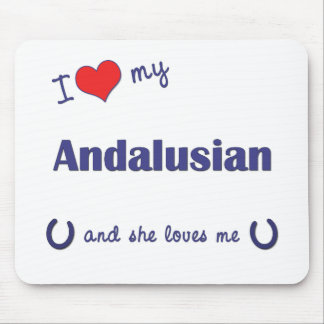 I Love My Andalusian Female Horse Mousepads