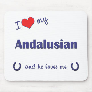I Love My Andalusian Male Horse Mousepads