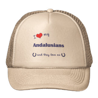 I Love My Andalusians (Multiple Horses) Mesh Hat
