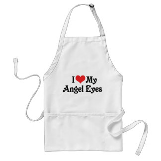 I Love My Angel Eyes Adult Apron