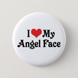 I Love My Angel Face Button