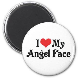 I Love My Angel Face Magnet