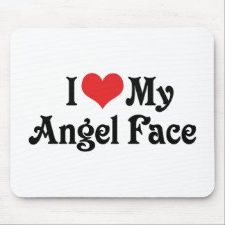 I Love My Angel Face Mousepad