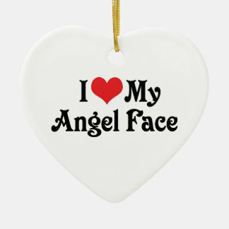 I Love My Angel Face Ornament