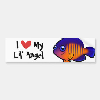I Love My Angelfish Car Bumper Sticker