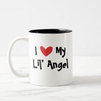I Love My Angelfish Two-Tone Coffee Mug