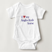 I Love My Anglo Arab Horse Baby Bodysuit