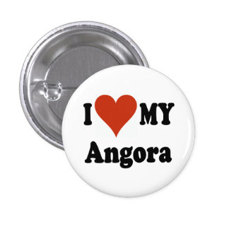 I Love My Angora Cat Gfits and Apparel Pinback Buttons