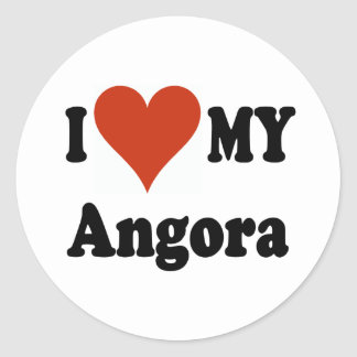 I Love My Angora Cat Gfits and Apparel Classic Round Sticker