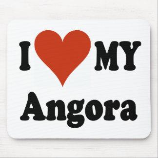 I Love My Angora Cat Gfits and Apparel Mouse Pad
