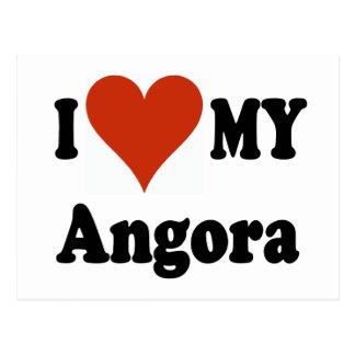 I Love My Angora Cat Gfits and Apparel Postcard