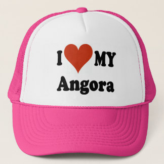 I Love My Angora Cat Gfits and Apparel Trucker Hat