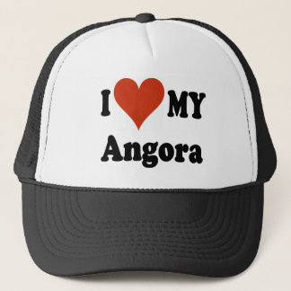 I Love My Angora Cat Merchandise Trucker Hat