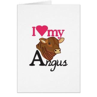 I Love My Angus Card