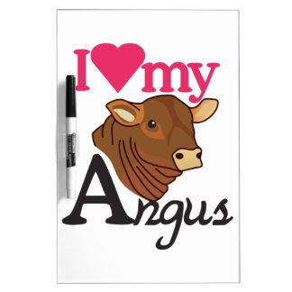 I Love My Angus Dry Erase Board