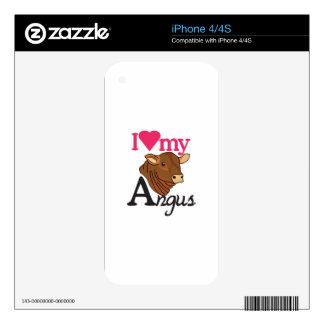 I Love My Angus iPhone 4S Skins