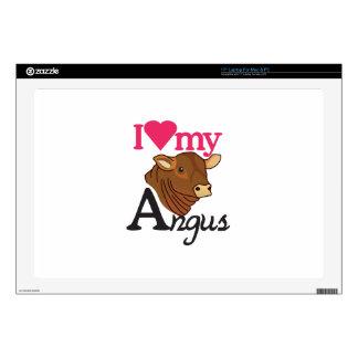 I Love My Angus Laptop Decal