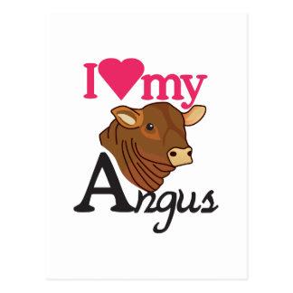 I Love My Angus Postcard