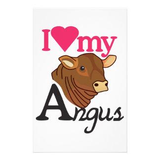 I Love My Angus Stationery