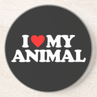 I LOVE MY ANIMAL COASTER