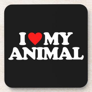 I LOVE MY ANIMAL COASTERS