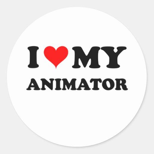 I Love My Animator Classic Round Sticker