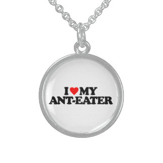 I LOVE MY ANT-EATER ROUND PENDANT NECKLACE