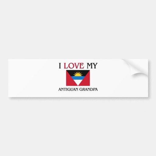 I Love My Antiguan Grandpa Bumper Stickers