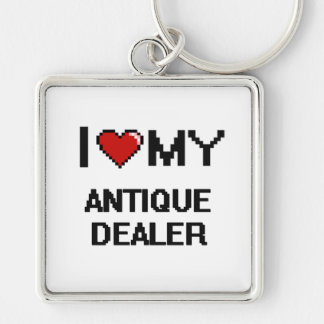 I love my Antique Dealer Silver-Colored Square Keychain