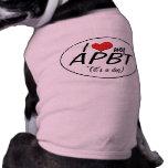 I Love My APBT (It's a Dog) Dog Shirt