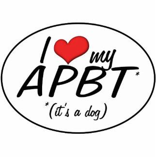 I Love My APBT (It's a Dog) Cut Outs