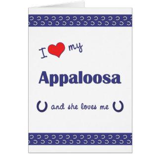 I Love My Appaloosa (Female Horse) Cards