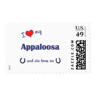 I Love My Appaloosa (Female Horse) Stamps