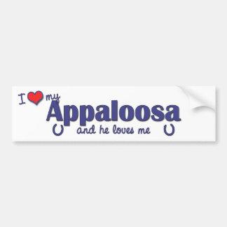 I Love My Appaloosa (Male Horse) Bumper Sticker