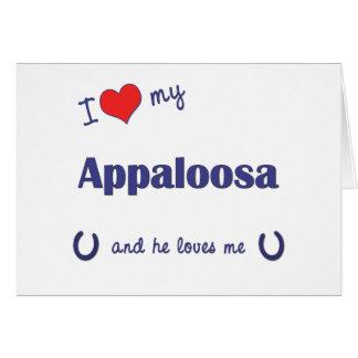 I Love My Appaloosa (Male Horse) Card