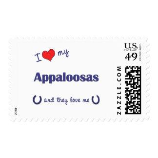 I Love My Appaloosas (Multiple Horses) Postage Stamps