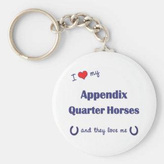 I Love My Appendix Quarter Horses (Multiple Horses Keychain
