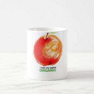 I love my apples organic classic white coffee mug